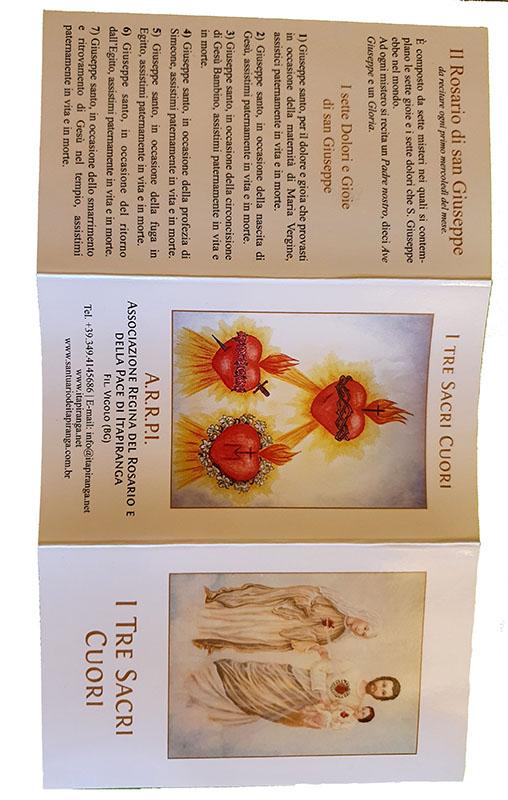 Pieghevole Tre Sacri Cuori