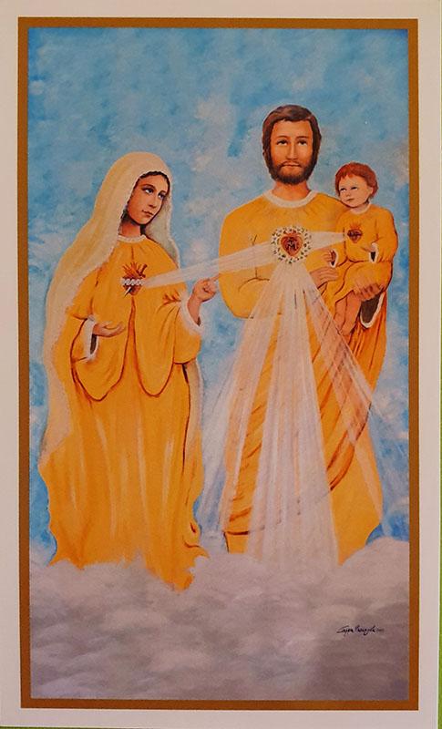 Immagine Sacra Famiglia 75x115mm
