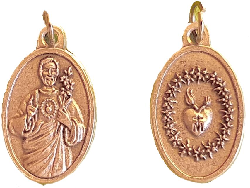 Medagliette Cuore Castissimo di San Giuseppe