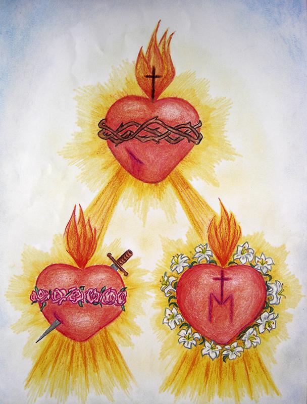 Stampa dei Tre Sacri Cuori - A3